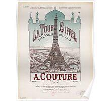 Eiffel Tower Paris France 1889 World Exposition Poster Poster