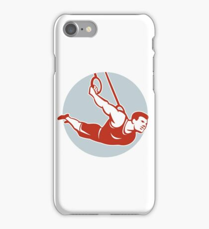 Crossfit Athlete Muscle-Up Gymnastics Ring Retro iPhone Case/Skin