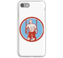 Cross-fit Ring Dip Circle Retro iPhone Case/Skin