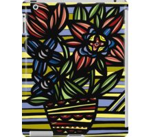 Civility Flowers Yellow Red Blue iPad Case/Skin