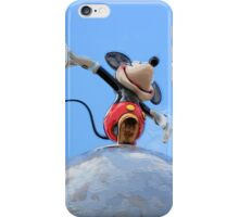 Mickey on top of the World iPhone Case/Skin