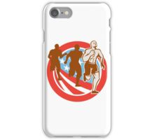 American Crossfit Runners USA Flag Circle Retro  iPhone Case/Skin