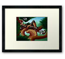 Squirrel Nap Framed Print