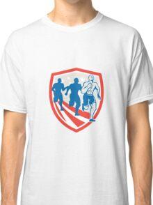 American Crossfit Runners USA Flag Retro Classic T-Shirt