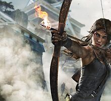 Tomb Raider - Lara Croft, Fire bow by ghoststorm