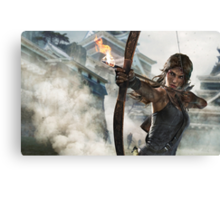 Tomb Raider - Lara Croft, Fire bow Canvas Print