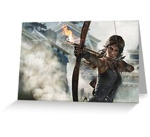 Tomb Raider - Lara Croft, Fire bow Greeting Card