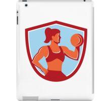 Female Lifting Dumbbell Shield Retro iPad Case/Skin