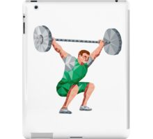 Weightlifter Lifting Barbell Low Polygon iPad Case/Skin