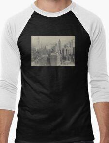 New York City, New York 1914 Photograph Men's Baseball ¾ T-Shirt
