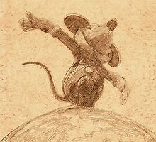 Mickey on top of the World by vintageblue
