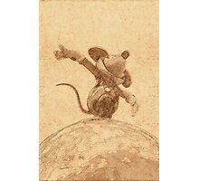 Mickey on top of the World Photographic Print