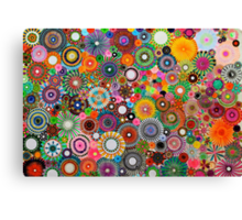 Childhood Dreams, a colourful spirograph drawing! Canvas Print