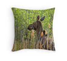 in the bush Throw Pillow