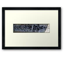 Black and White Graffiti - Panoramic Framed Print