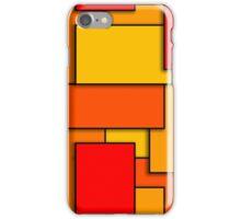 Blocks (RedOrange) iPhone Case/Skin