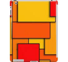 Blocks (RedOrange) iPad Case/Skin
