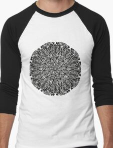 ornate circle Men's Baseball ¾ T-Shirt