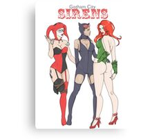 Gotham City Sirens Canvas Print