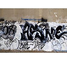 Black and White Graffiti Photographic Print