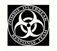 Zombie Outbreak Response Team - dark Art Print