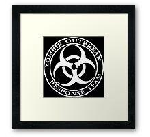 Zombie Outbreak Response Team - dark Framed Print