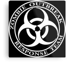 Zombie Outbreak Response Team - dark Metal Print