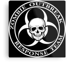 Zombie Outbreak Response Team w/ skull - dark Metal Print
