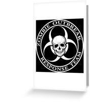 Zombie Outbreak Response Team w/ skull - dark Greeting Card