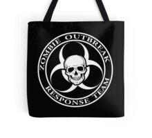 Zombie Outbreak Response Team w/ skull - dark Tote Bag