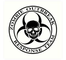 Zombie Outbreak Response Team w/ skull - light Art Print
