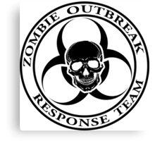 Zombie Outbreak Response Team w/ skull - light Canvas Print