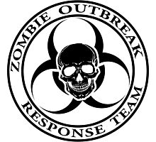 Zombie Outbreak Response Team w/ skull - light Photographic Print