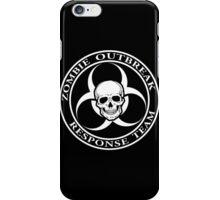 Zombie Outbreak Response Team w/ skull - dark iPhone Case/Skin