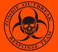 Zombie Outbreak Response Team w/ skull - light Kids Tee