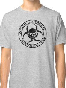 Zombie Outbreak Response Team w/ skull - light Classic T-Shirt