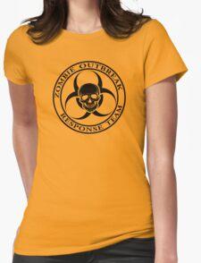 Zombie Outbreak Response Team w/ skull - light Womens Fitted T-Shirt