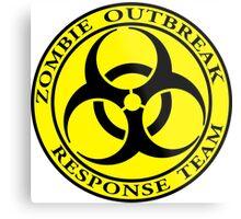 Zombie Outbreak Response Team - yellow Metal Print