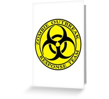Zombie Outbreak Response Team - yellow Greeting Card