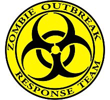 Zombie Outbreak Response Team - yellow Photographic Print