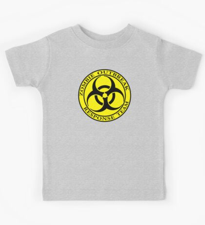 Zombie Outbreak Response Team - yellow Kids Tee