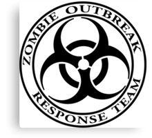 Zombie Outbreak Response Team - light Canvas Print