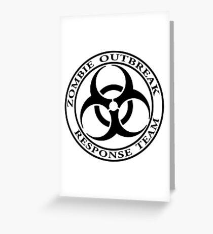 Zombie Outbreak Response Team - light Greeting Card