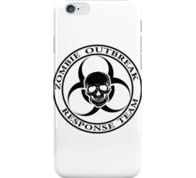 Zombie Outbreak Response Team w/ skull - light iPhone Case/Skin