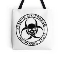 Zombie Outbreak Response Team w/ skull - light Tote Bag