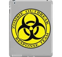 Zombie Outbreak Response Team - yellow iPad Case/Skin