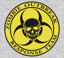 Zombie Outbreak Response Team w/ skull - yellow by ianscott76