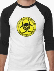 Zombie Outbreak Response Team w/ skull - yellow Men's Baseball ¾ T-Shirt
