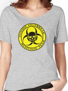 Zombie Outbreak Response Team w/ skull - yellow Women's Relaxed Fit T-Shirt