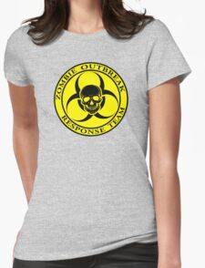 Zombie Outbreak Response Team w/ skull - yellow Womens Fitted T-Shirt